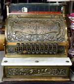 An antique National Cash Register