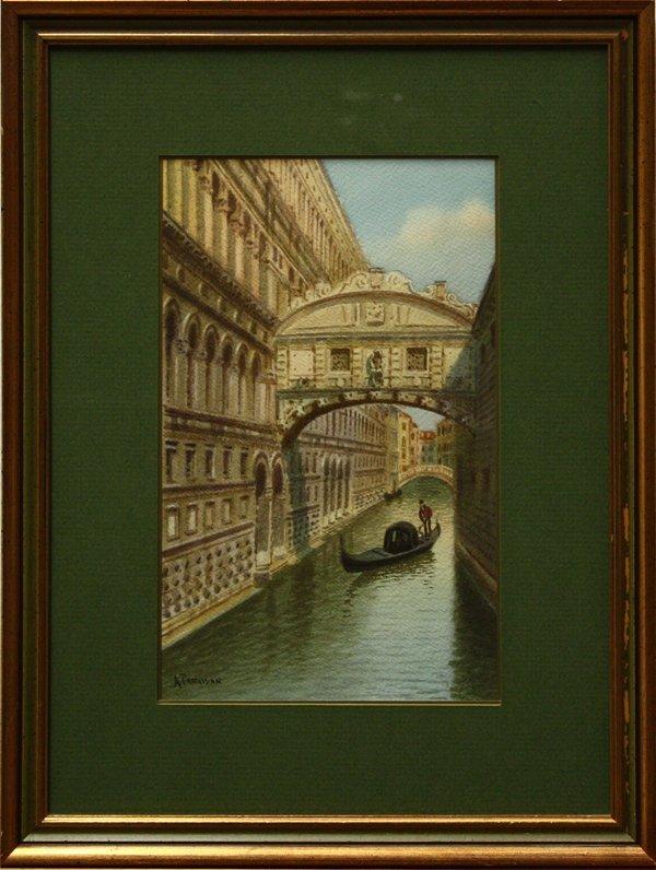 2003: painting, Alberto Trevisan, Gondola