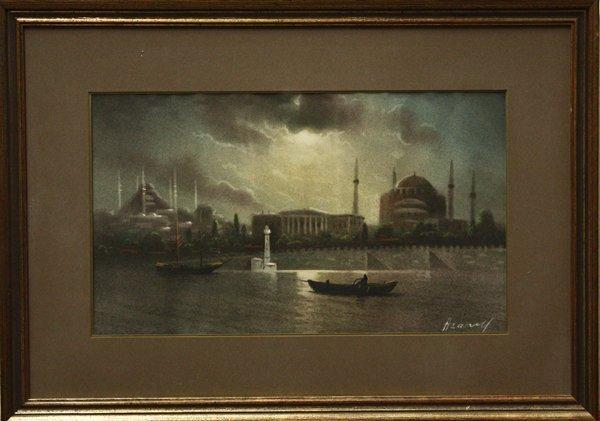 2005: painting, City Scene