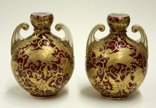 2009: Royal Crown Derby Chinese style vases