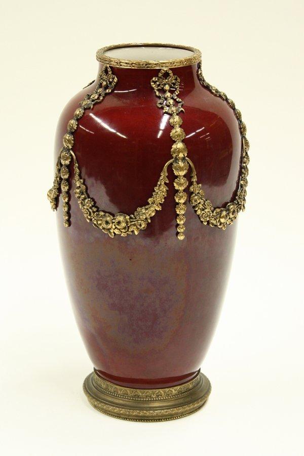 2013: French art pottery oxblood glazed vase