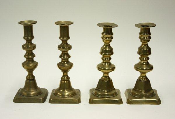 2017: brass candlesticks, 19th century