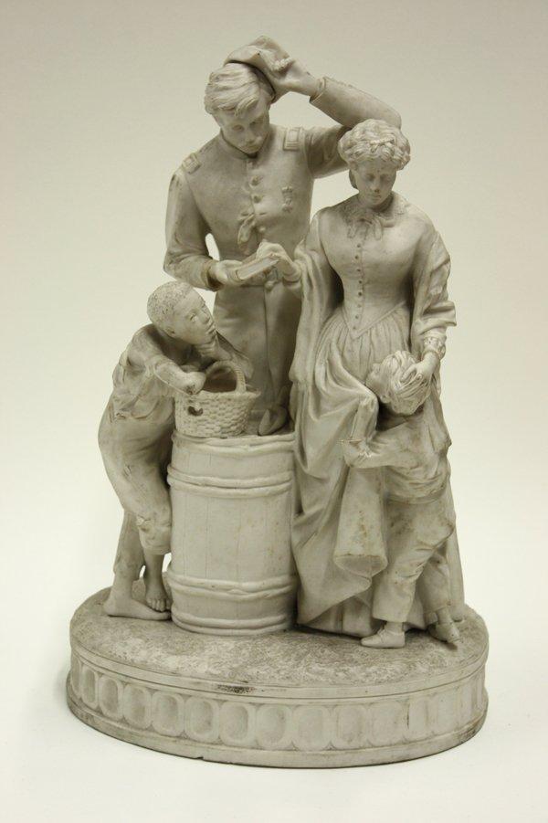 2019: Parian ware figural group ''Antebellum''