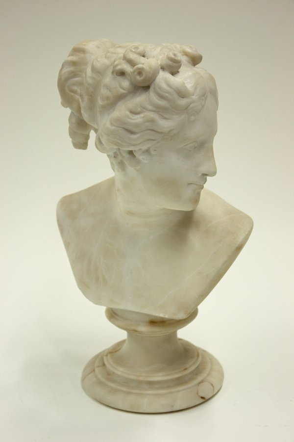 2021: Marble bust Neo-Classical Goddess