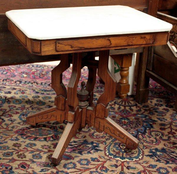 2099: Victorian Eastlake walnut parlor table
