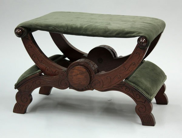 2101: Folding Renaissance Revival bench