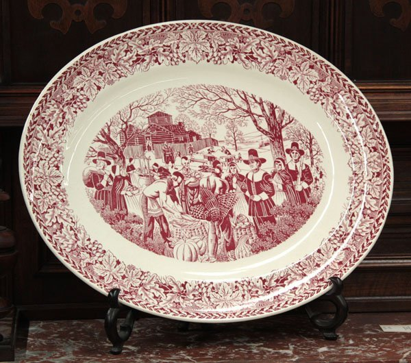 2309: Vintage Homer Laughlin turkey platter