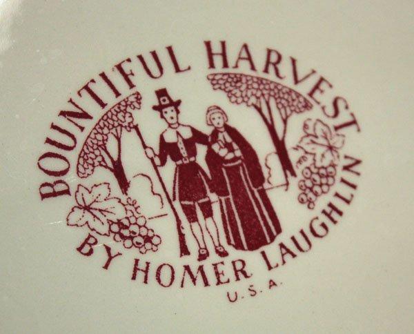 2309: Vintage Homer Laughlin turkey platter - 2