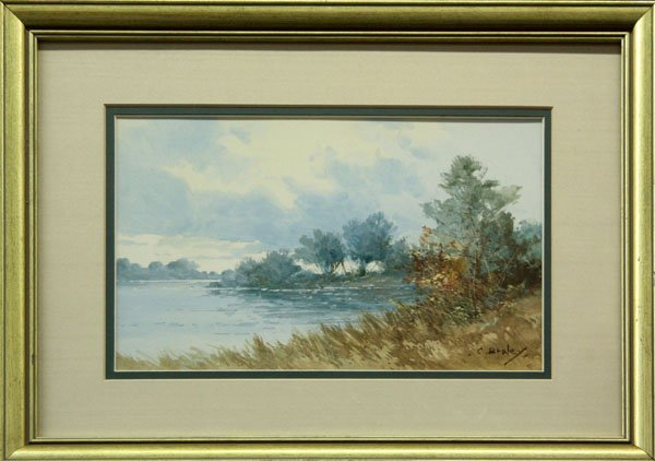 1: watercolor, Clarence Braley, Riverside