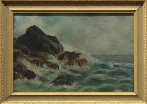 3: painting, J. Smith, Seascape, 1929