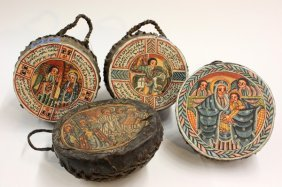 6007: Decorated hand drums, Ethiopia