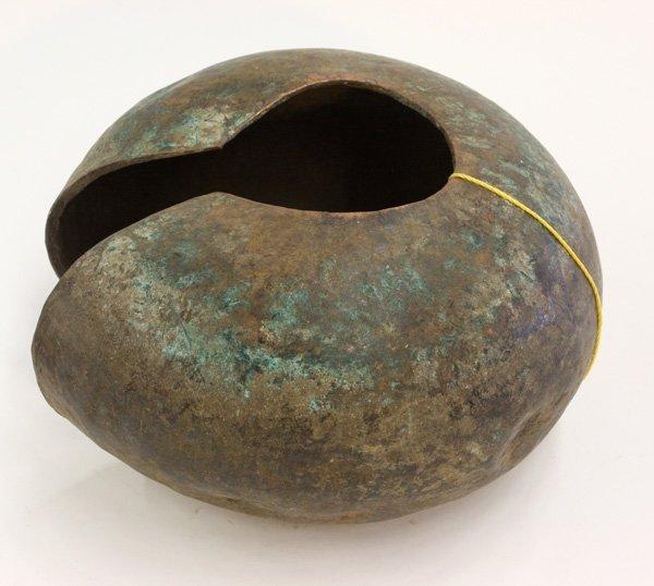 6019: Copper anklet, Mbole, D. R. Congo,