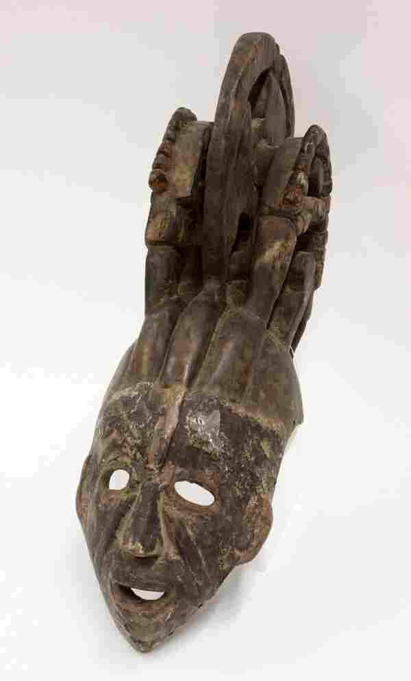 6208: Wood carved mask, Ibo, Nigeria