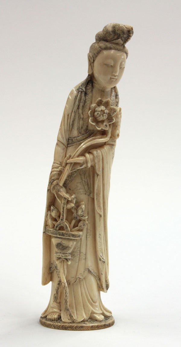 6661: Chinese Ivory Female Celestial, Qing