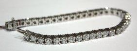 7044: Diamond Bracelet White Gold