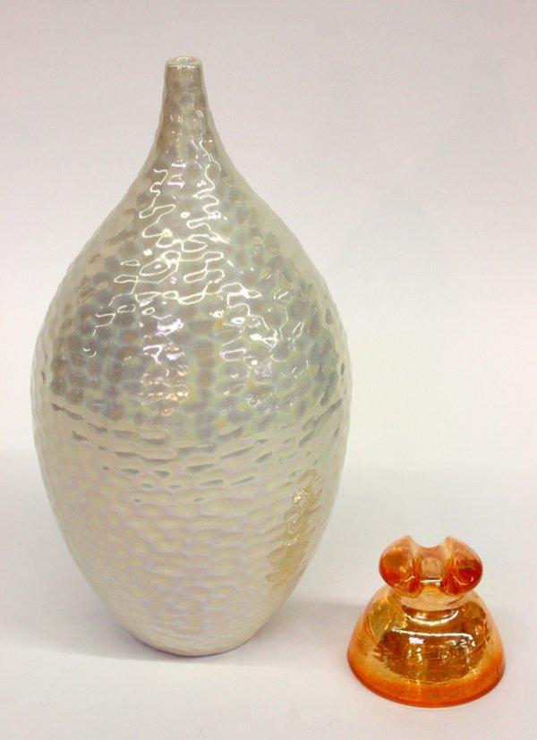 4017: Mid-century art pottery vase