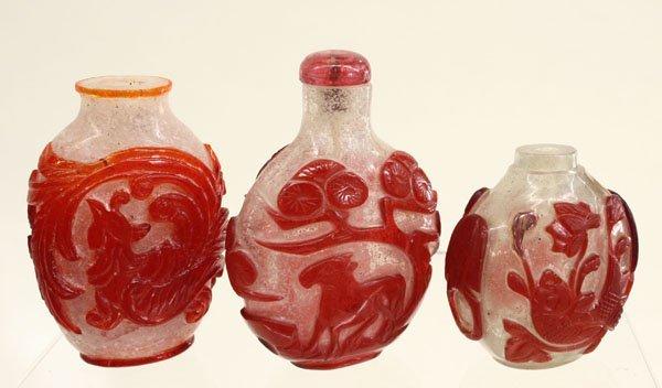 4081: Chinese Peking Glass Snuff Bottles