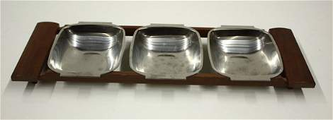 4514: 2 Danish modern trays