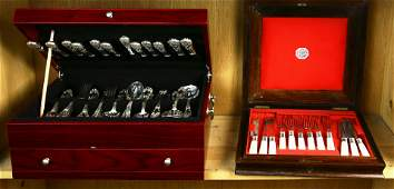 Collection of silver plate flatware