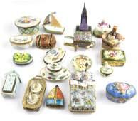 (lot of 19) Limoges porcelain pill boxes