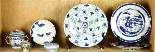 (lot of 7) Chinese blue and white porcelains