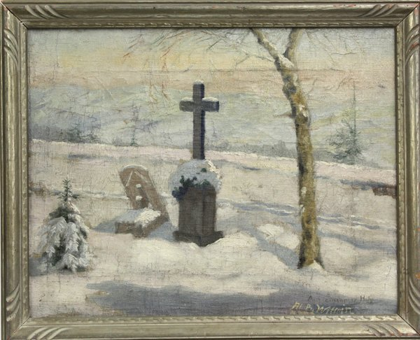 2003: painting, Alb. Wittrin, Winter scene