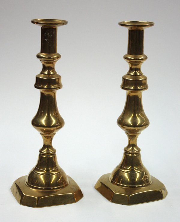 2013: 19th century brass candlesticks