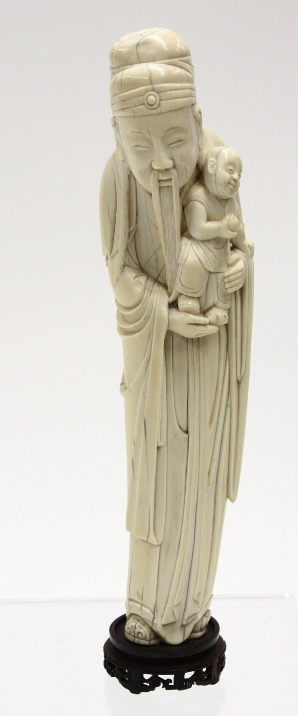 2435: Chinese ivory figural carving, Qing
