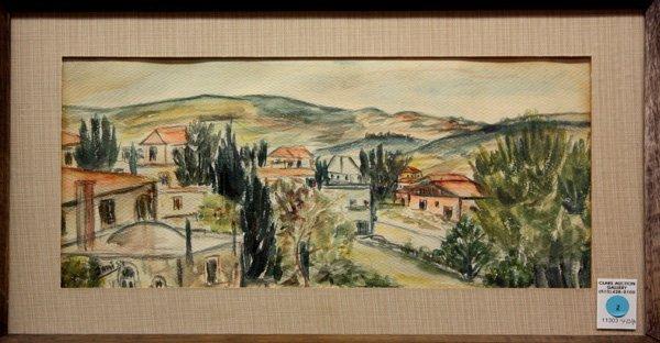 2: watercolor, Jami, 1954, Town Scene