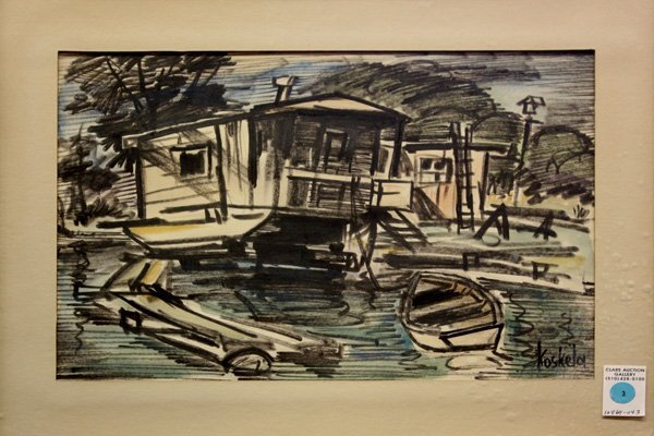 3: mixed media, Harbor, Koskela