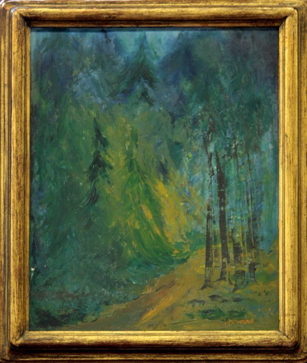 6: painting, forest, J. Howard