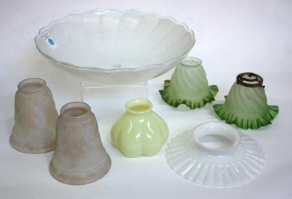 12: Vintage art glass light shades