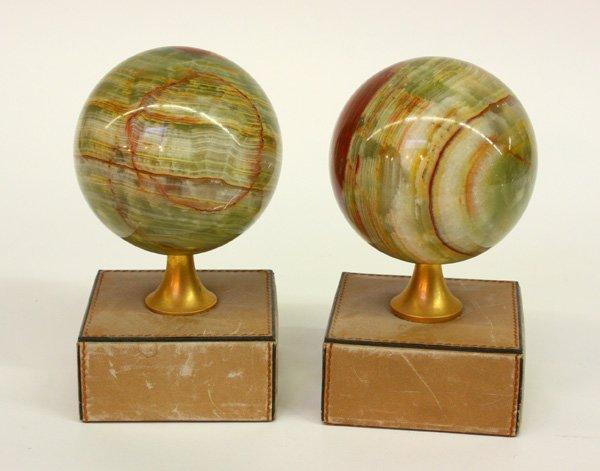 16: Italian marble spheres