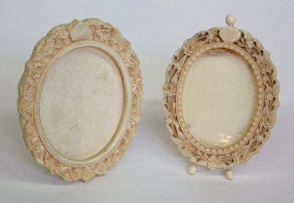 20: Chinese Small Ivory Frames, Qing