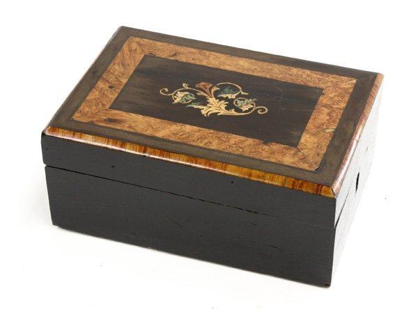 24: Napoleon III marquetry jewelry box