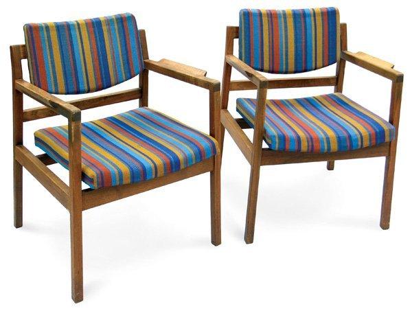 107: Jens Risom Danish modern armchairs