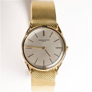 An eighteen karat gold wristwatch, Vacheron &