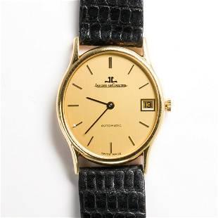 An eighteen karat gold wristwatch, Jaeger LeCoultre