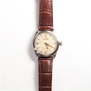 A stainless steel wristwatch, Rolex