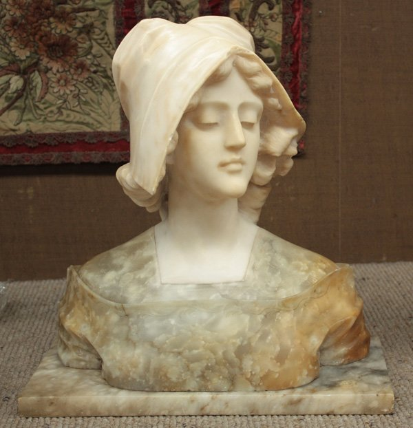 6231: Victorian two-color marble bust