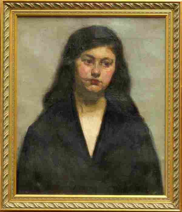 4198: Painting Girl William Auerbach Levy