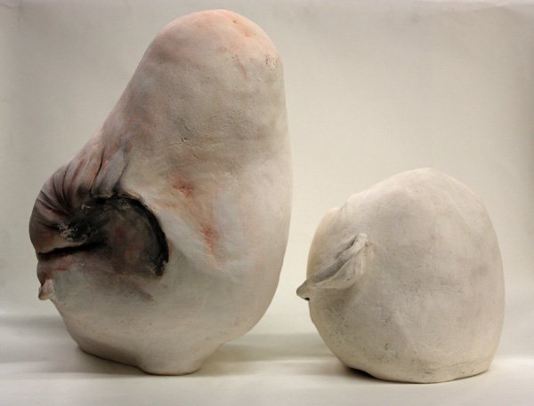 4516: Grotesque sculpture heads by Charlene Doiron Rein - 3