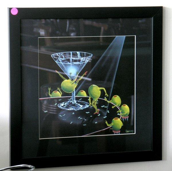 9003: Martini glass and billiard ball framed prints