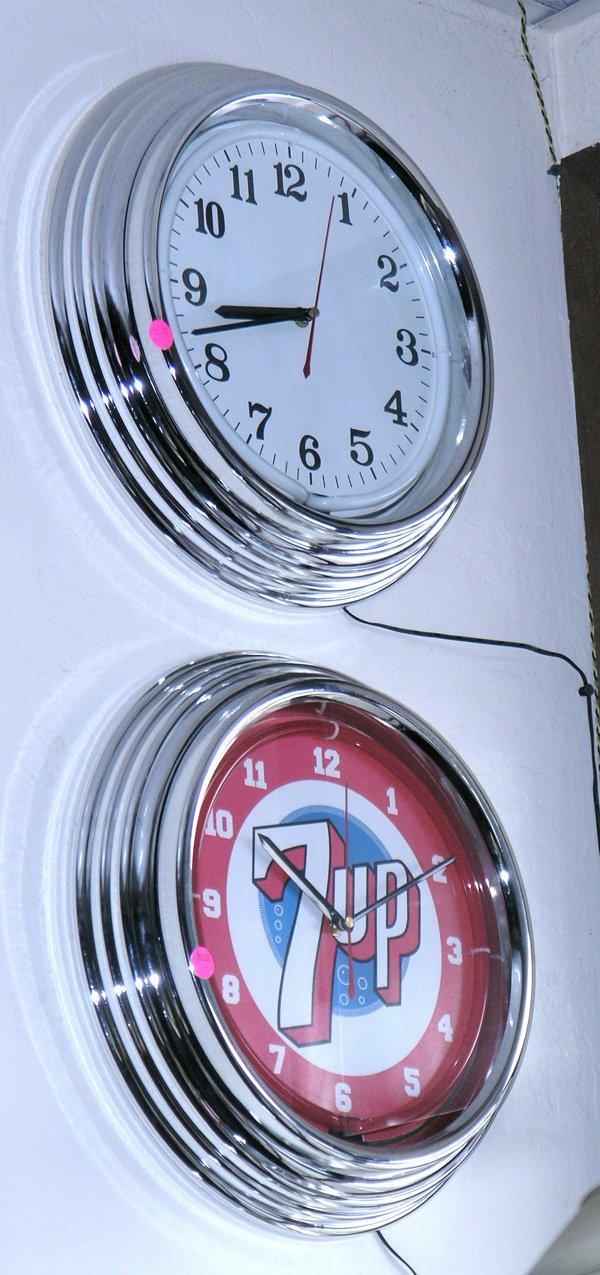 9010: retro 7 up design clock