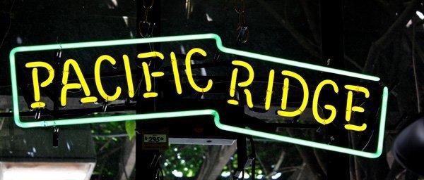 9021: Pacific Ridge neon advertising sign