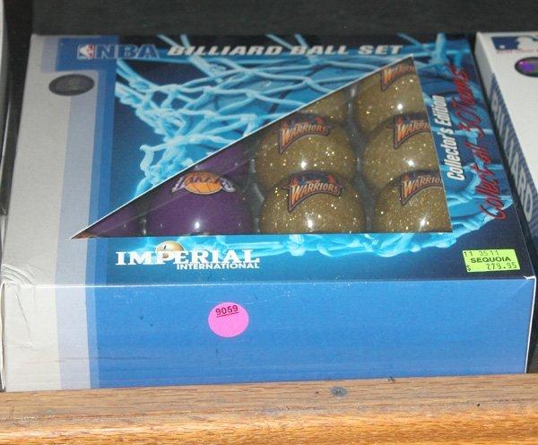 9059: Box of NBA billiard balls