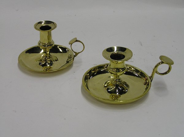 6015: 2 Early 19th cent. English Chambersticks