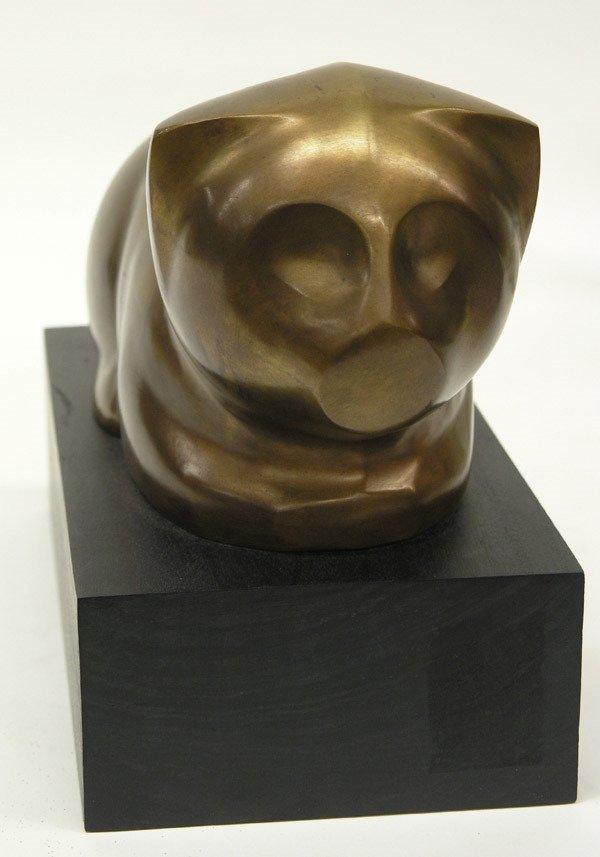 6499: Bronze Bufano Cat - 3
