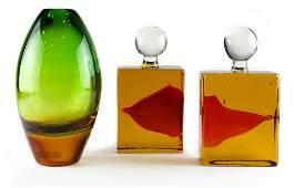 A Modern art glass goup