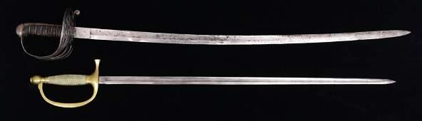 "2 Civil War swords: Union ""Iron Proof"" sword and Ames"